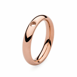Size 7 Rose Gold Basic Small Interchangeable Ring by Qudo Jewelry