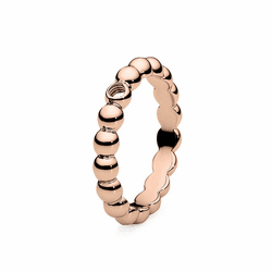 Size 7 Rose Gold Veroli Basic Interchangeable Ring by Qudo Jewelry