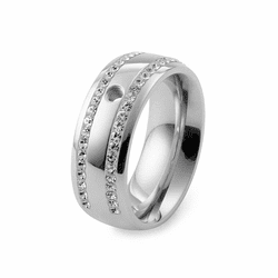 Size 8.5 Silver Lecce Basic Interchangeable Ring  by Qudo Jewelry