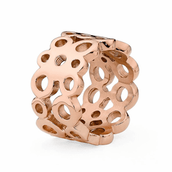 Size 9 Rose Gold Ancona Basic Interchangeable Ring  by Qudo Jewelry