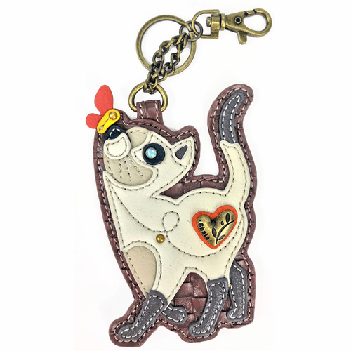 Slim Cat Key Fob and Coin Purse by Chala