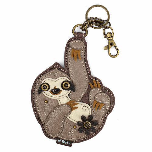 Sloth Key Fob and Coin Purse by Chala