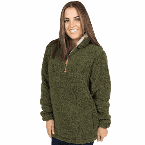 Small Army Sherpa Pullover by Simply Southern