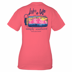 Small Bergonia Lake Short Sleeve Tee by Simply Southern
