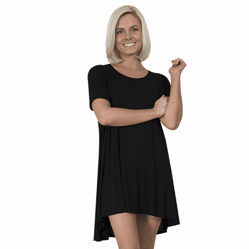 Small Black Short Sleeve Tunic by Simply Southern