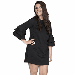 Small Black Winston Long Sleeve Tunic by Simply Southern