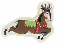 Small Canvas Reindeer Dog Toy by Harry Barker