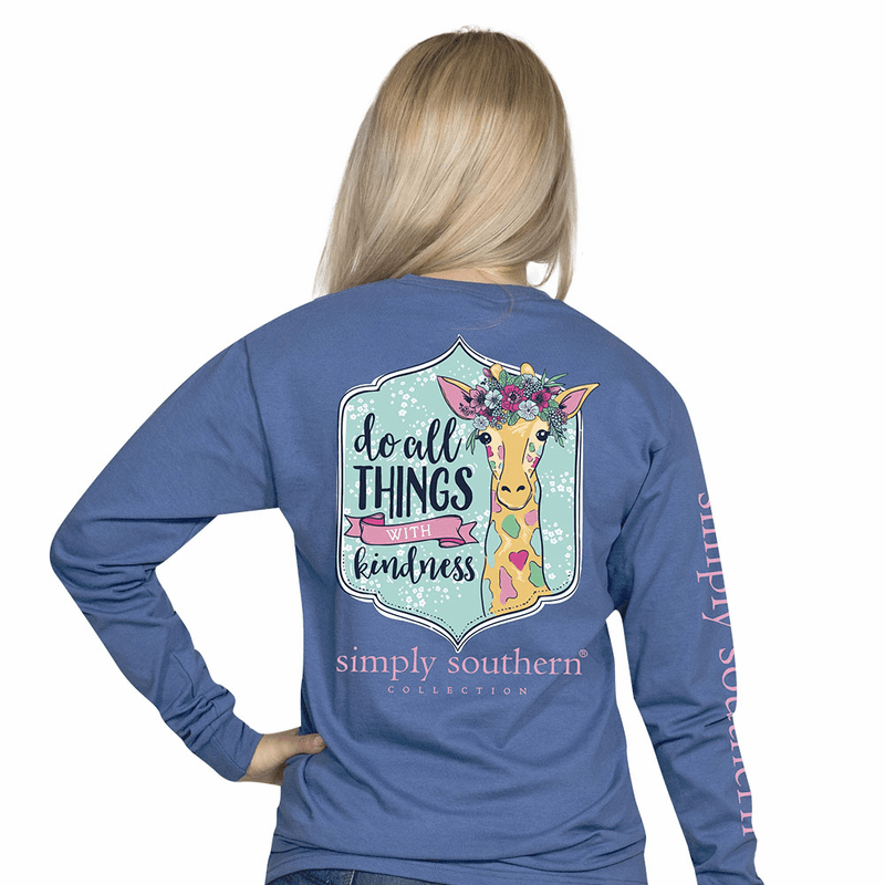 59983eac4 Small Do All Things with Kindness Moonrise Long Sleeve Tee by Simply  Southern