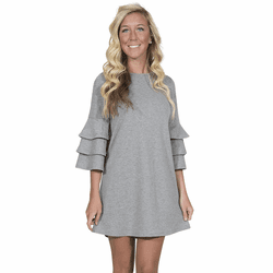 Small Heather Gray Winston Long Sleeve Tunic by Simply Southern