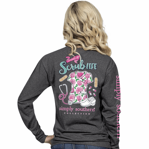 Small Living The Scrub Life Long Sleeve Tee by Simply Southern