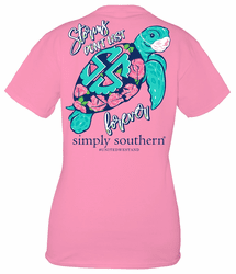 Small Storms Don�t Last Forever Flamingo Short Sleeve Tee by Simply Southern