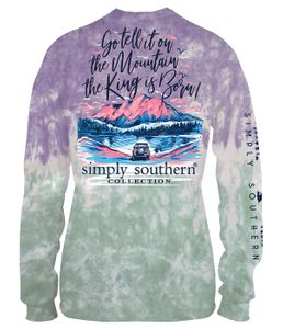 Small The King is Born Bohemian Long Sleeve Tee by Simply Southern