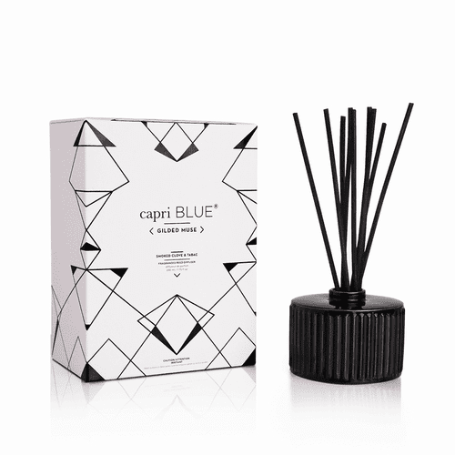 Smoked Clove and Tobacco 7.75 oz. Gilded Reed Diffuser by Capri Blue