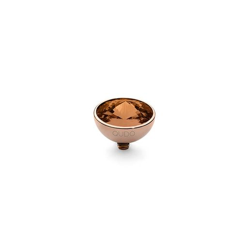 Smoked Topaz 11.5mm Rose Gold Interchangeable Top by Qudo Jewelry