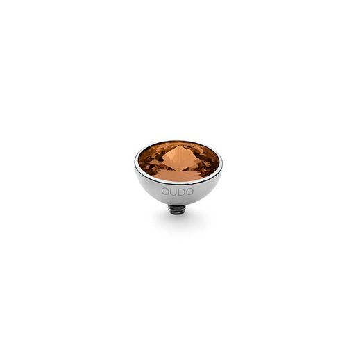 Smoked Topaz 11.5mm Silver Interchangeable Top by Qudo Jewelry