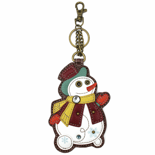 Snowman Key Fob and Coin Purse by Chala