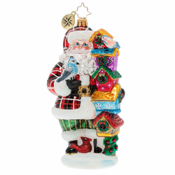 Songbird Santa Ornament by Christopher Radko