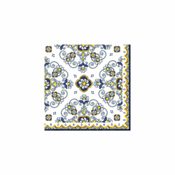"Sorrento Patterned 10"" x 10"" Paper Cocktail Napkins (Pack of 20) by Le Cadeaux"