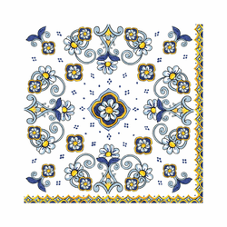 "Sorrento Patterned 15.75"" x 15.75"" Paper Dinner Napkins (Pack of 20) by Le Cadeaux"