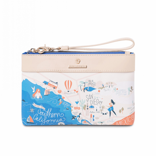 Southern California Map Scout Wristlet by Spartina 449
