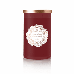 Sparkling Cranberry 18 oz. Holiday Wreath Colonial Candle