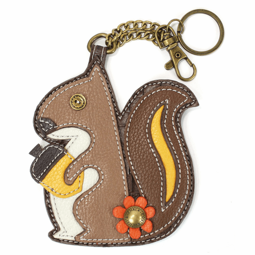 Squirrel Key Fob and Coin Purse by Chala