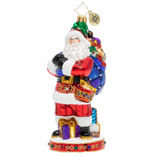 St. Nick's Delivery Ornament by Christopher Radko