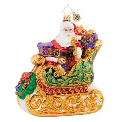 St. Nick's Sleigh Ride Ornament by Christopher Radko
