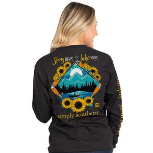 Starry Lights & Lake Nights Black Long Sleeve by Simply Southern