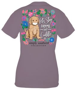 Stay Home and Cuddle Plum Short Sleeve Tee by Simply Southern