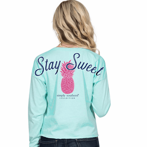 Stay Sweet Celedon Shortie Long Sleeve Tee by Simply Southern