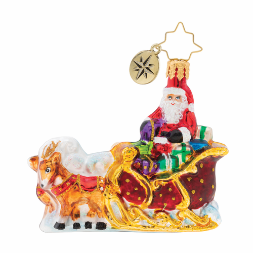 Stellar Ride, Santa! Gem Ornament by Christopher Radko