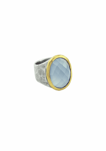 Stellare Ring Blue Chalcedony (Size 8) by Waxing Poetic
