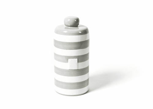 Stone Stripe Mini Canister by Happy Everything!