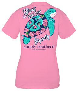 Storms Don't Last Forever Flamingo Short Sleeve Tee by Simply Southern