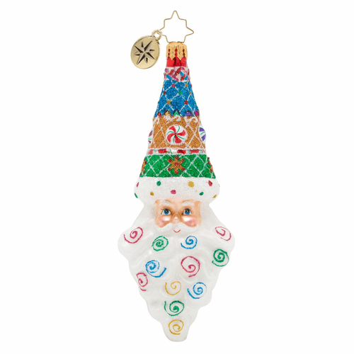 Sugary Sweet Mr. Claus Ornament by Christopher Radko