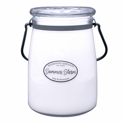 Summer Storm 22 oz. Butter Jar Candle by Milkhouse Candle Creamery