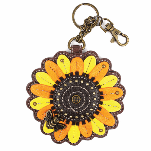 Sunflower Key Fob and Coin Purse by Chala
