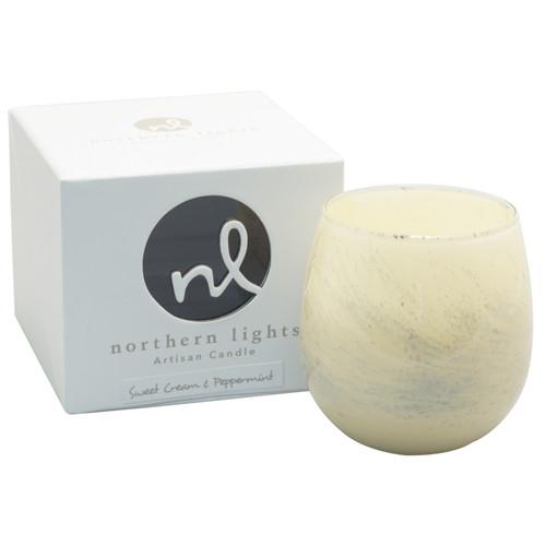 Sweet Cream & Peppermint 8 oz. Artisan Candle by Northern Lights