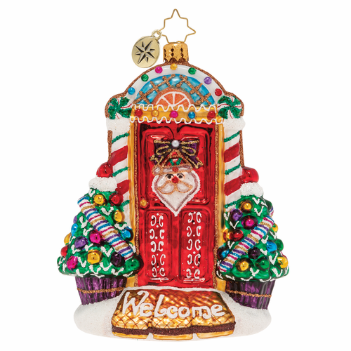 Sweet Home Door Decor! Ornament by Christopher Radko - (Available March)