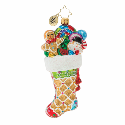 Sweetly Stuffed Stocking Ornament by Christopher Radko
