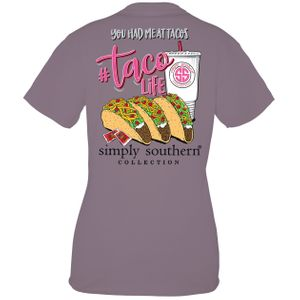 Taco Life Plum Short Sleeve Tee by Simply Southern