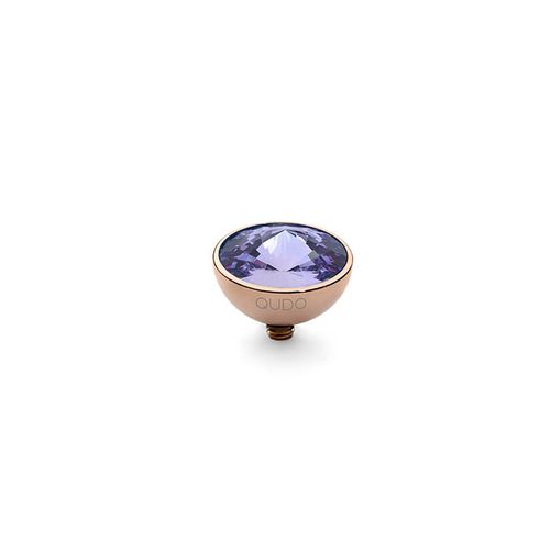 Tanzanite 11.5mm Rose Gold Interchangeable Top by Qudo Jewelry