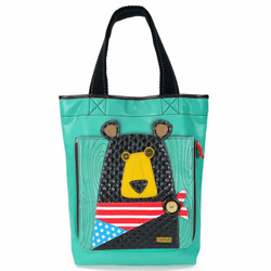 Teal Black Bear Deluxe Everyday Tote by Chala