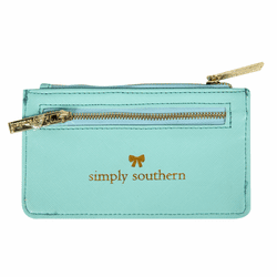Teal Leather ID Wallet by Simply Southern
