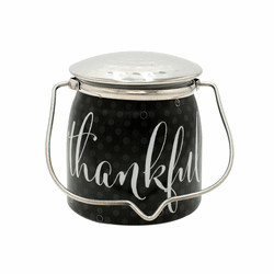 Thankful (Brown Butter Pumpkin) Jar 16 oz. Sentiments Special Edition Wrapped Butter Jar by Milkhouse Candle Creamery