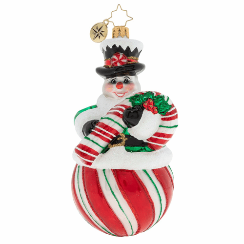 The Candy (Snow) Man Ornament by Christopher Radko