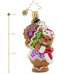 The Gingerbread Man Can! Gem Ornament by Christopher Radko - (Available March)