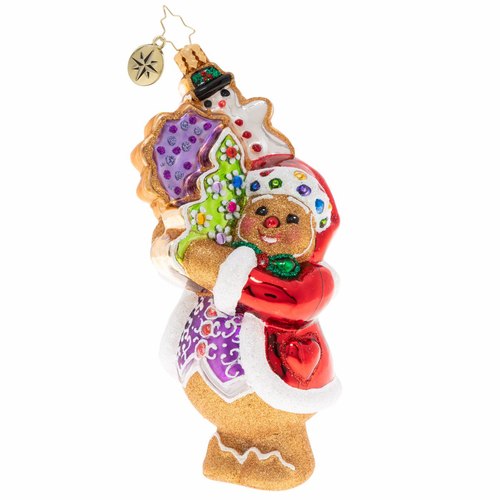 The Gingerbread Man Can! Ornament by Christopher Radko