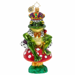 The Toadstool Throne Ornament by Christopher Radko